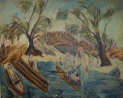 Untitled [Bathers and Boats]