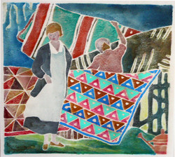 'Hanging Quilts to Dry'