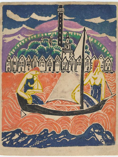 Provincetown Sailing 1916 by William Zorach