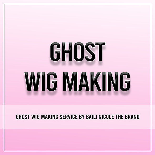 Ghost Wig Making
