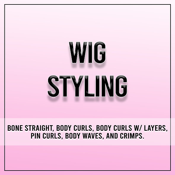 Wig Styling Service