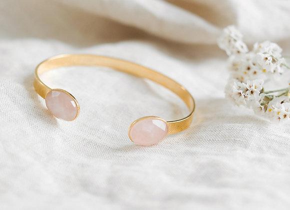 Jonc quartz rose pâle