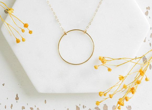 Collier cercle doré
