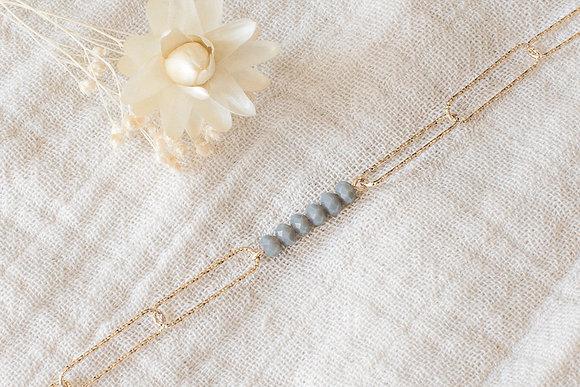 Bracelet maillons - Gris