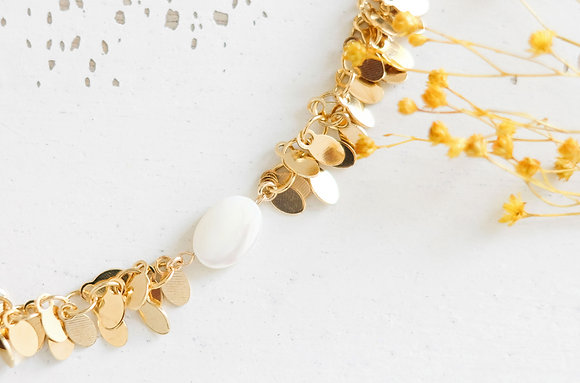 Bracelet perle nacrée