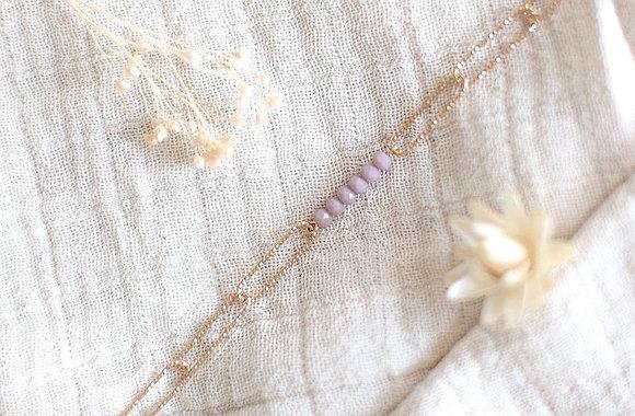 Bracelet maillons - Mauve