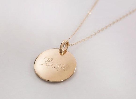 Collier médaille dorée - Police 2