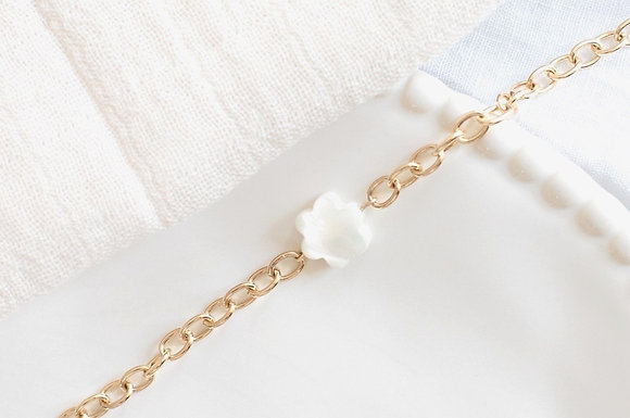 Bracelet - Fleur en nacre