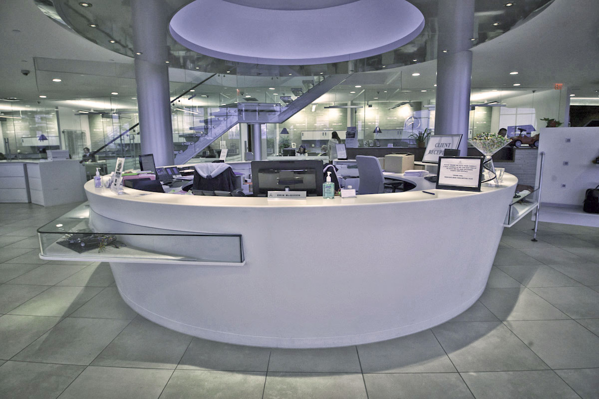 Mercedes Benz Reception Desk
