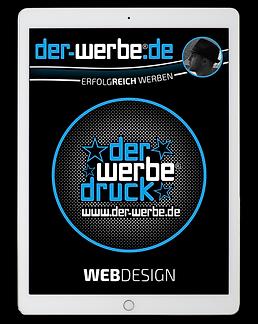 Tablet_mit Kreisdesign_der-werbe hi_blac