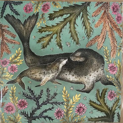 Seal Illustrated Designer Card