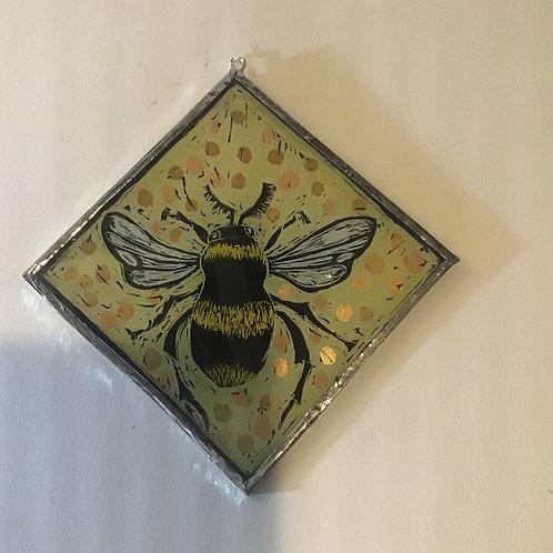 Yellow Bumblebee Wall Hanging