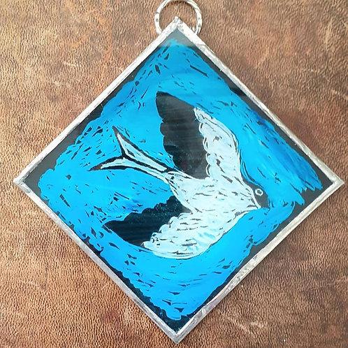 Square bird wall hanging