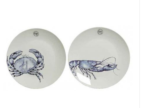 Crab & Lobster 2 Plate Set