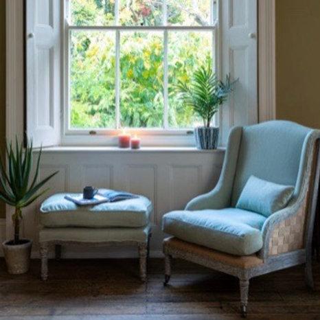Swedish Green Footstool