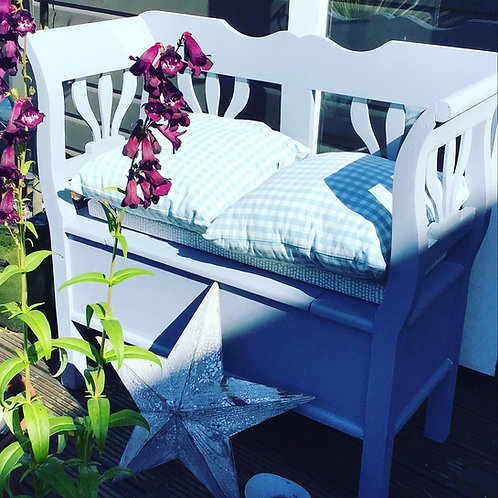 Hand painted 'Emma' Garden Bench