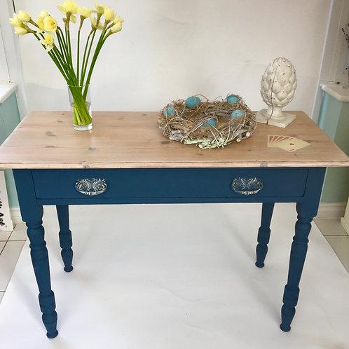 Blue Vintage Painted Table