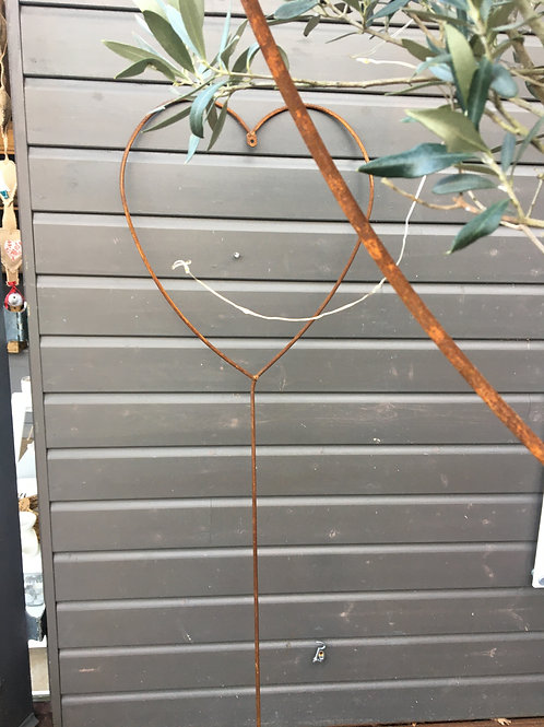Rustic Heart Shaped plant Support