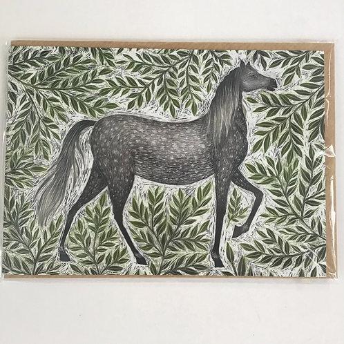 Horse Illustrated Designer Card