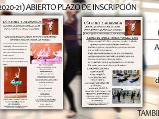 CLASES ESTUDIO-1 (2020-21) ABIERTO PLAZO DE INSCRIPCIÓN