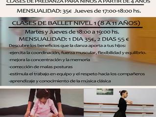 Clases de danza para niños.