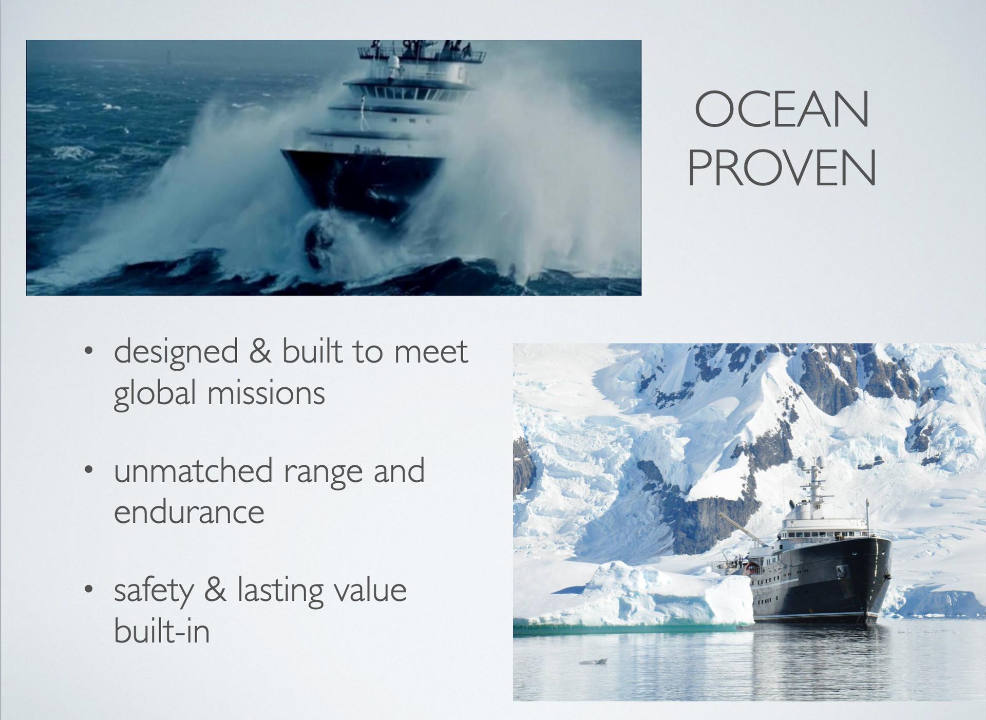 Ocean Xplorer 70 Ocean Proven