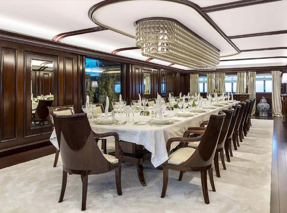 Dining1 80m _ 280 ft Blohm+Voss Refit Pr