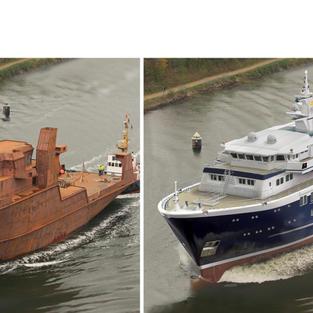 LP Design Conversion of German Research Ship