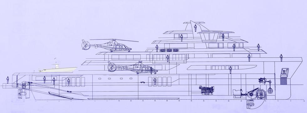 Ocean Xplorer 70 cut-away profile