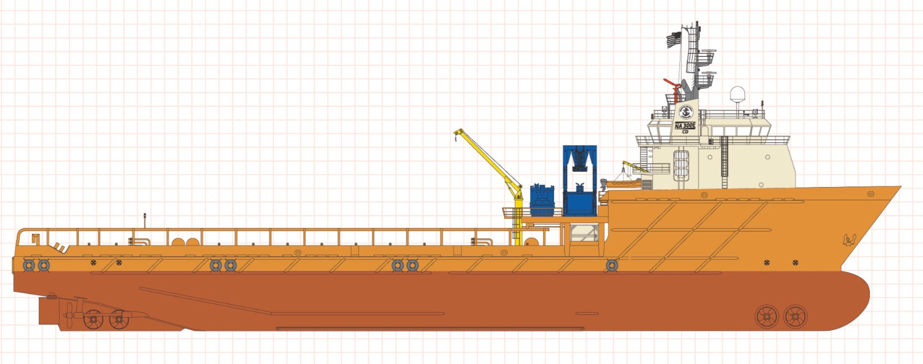 100m OSV Vessel for Expedition Conversio