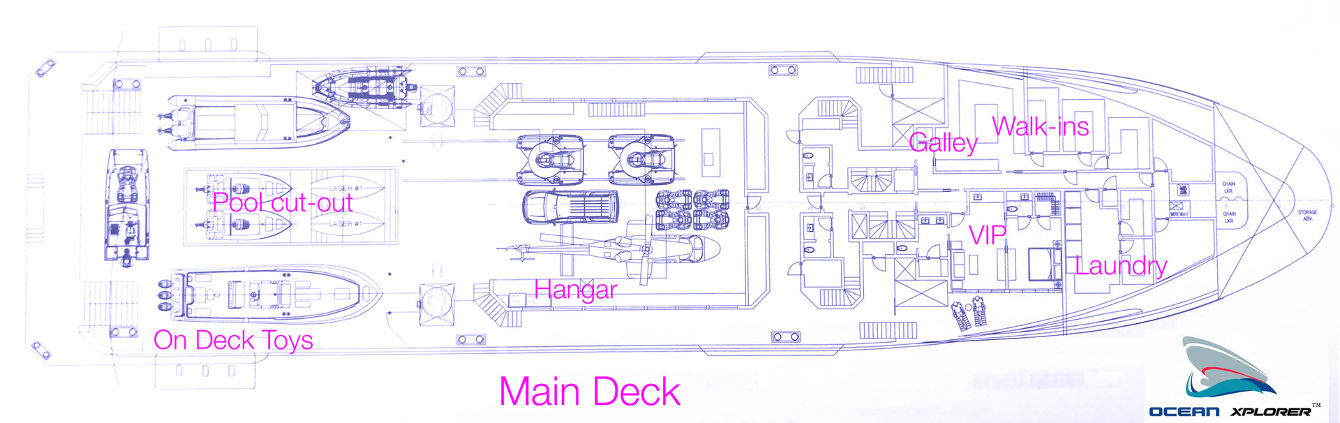 Ocean Xplorer 70 Main Deck