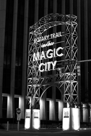 Rotary Trail at Night