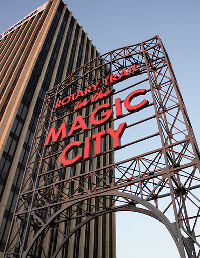 Magic City Rotary Trail Sign