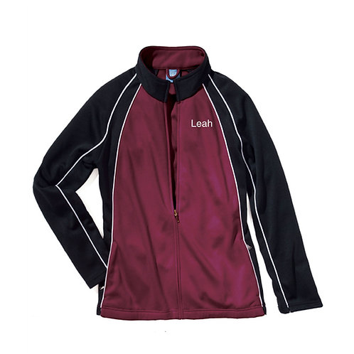 BDC Custom Warm-Up Jacket Maroon/White/Black