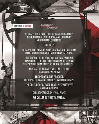 Gardner Denver Pumps — Brand Positinioning, Manifesto
