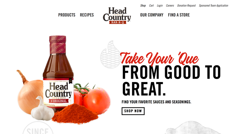 Head Country BBQ Website
