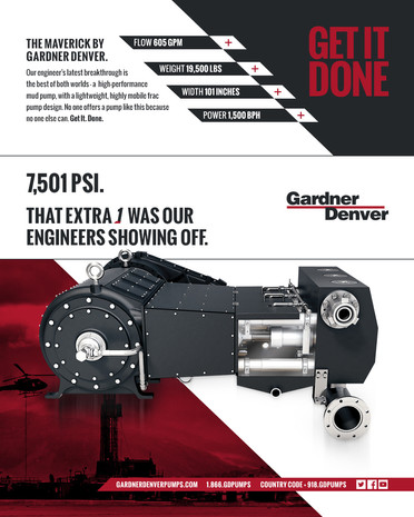 Gardner Denver Pumps — Print Ad Campaign (The Maverick)