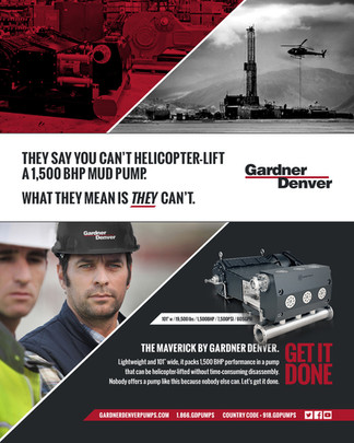 Gardner Denver Pumps — Print Ad Campaign (The Maverick)