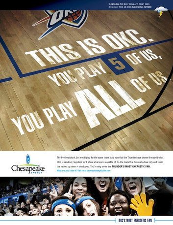 Chesapeak Energy — Print Ad (OKC Thunder Sponsorship)