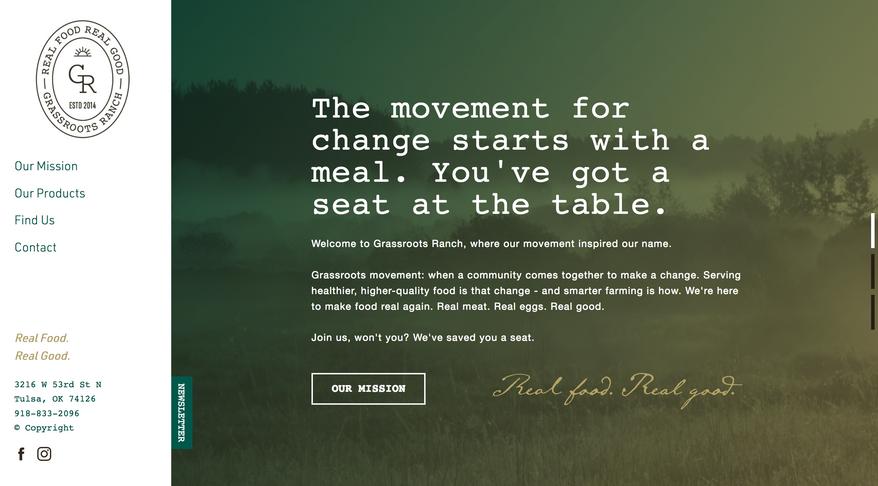 Grassroots Ranch — Website