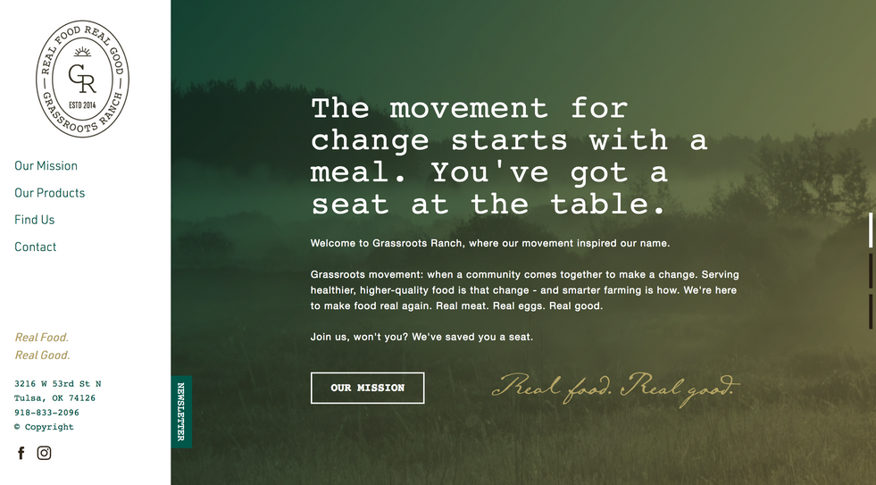 Grassroots Ranch Website