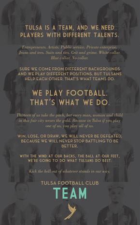 FC Tulsa — Manifesto