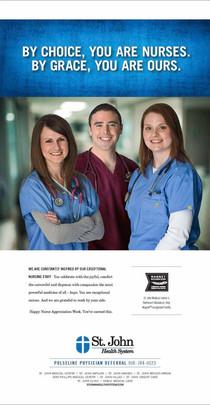 St. John Hospital — Print Ad (Nurses' Day)
