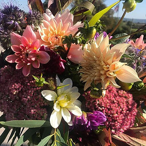 An autumnal bouquet created for our loca