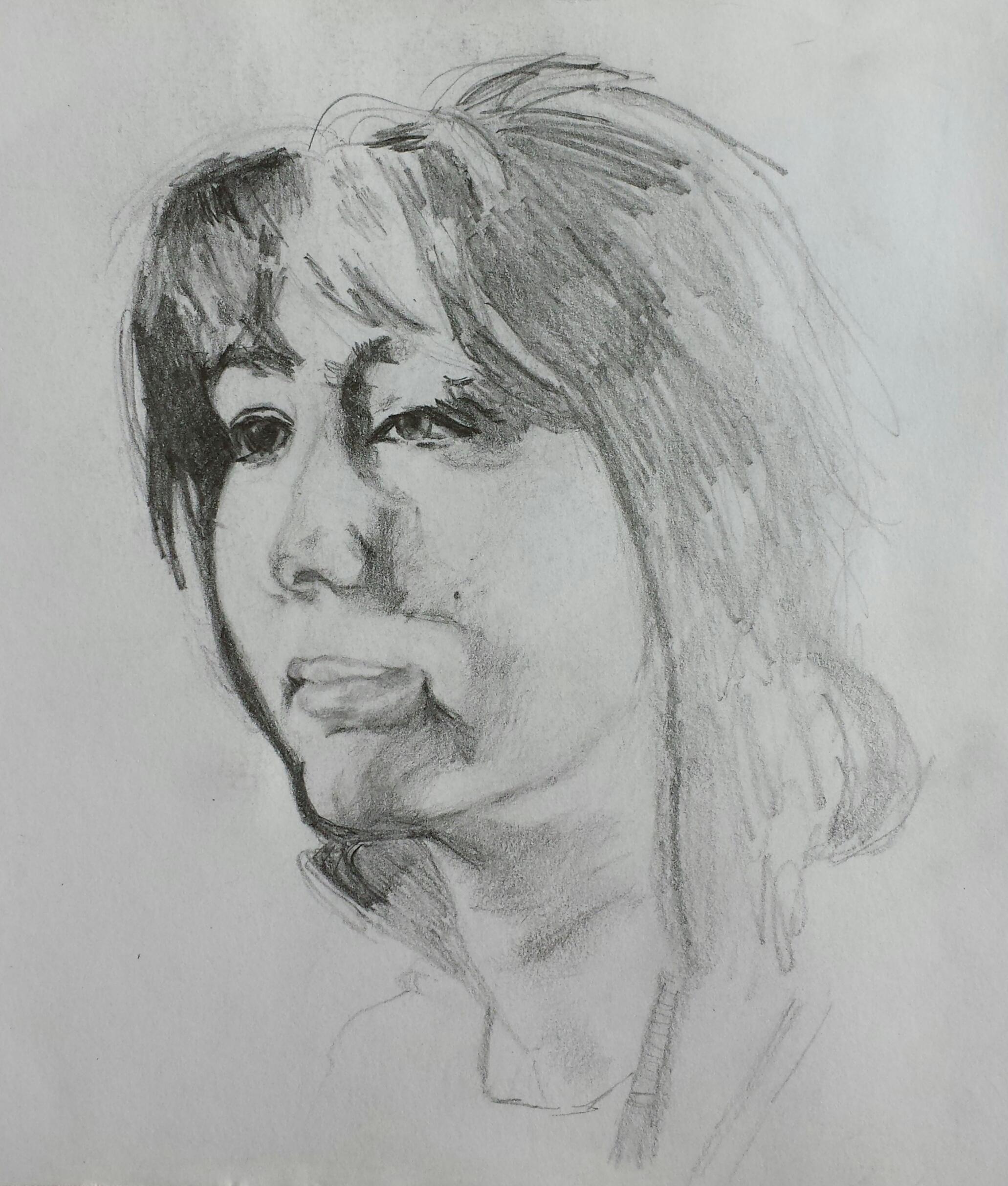 sketch of mum