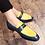 Thumbnail: Misalwa Yellow Red White Shiny Loafers Men