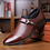 Thumbnail: AlexBu Autumn Man Leather Shoes Slip on Flats Oxford