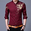 Thumbnail: Brand Wine Red Mens Dress Shirts