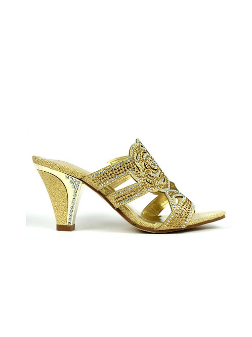 Rose for Your Feet Heel Gold