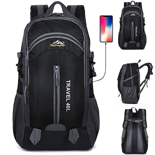 New Men Backpack USB Charging 40L Large Capacity Out Door for Male Bag